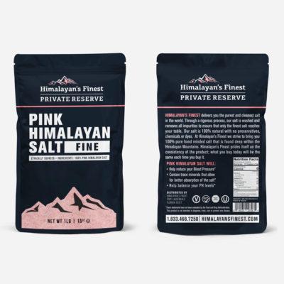 Himalayan Pink Salt bag, 1lb fine