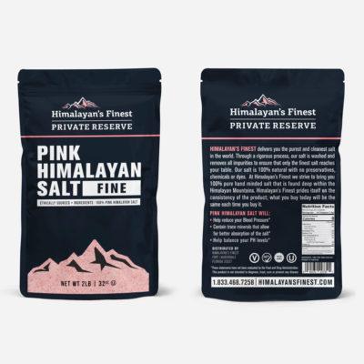 Himalayan Pink Salt bag, 2lb fine