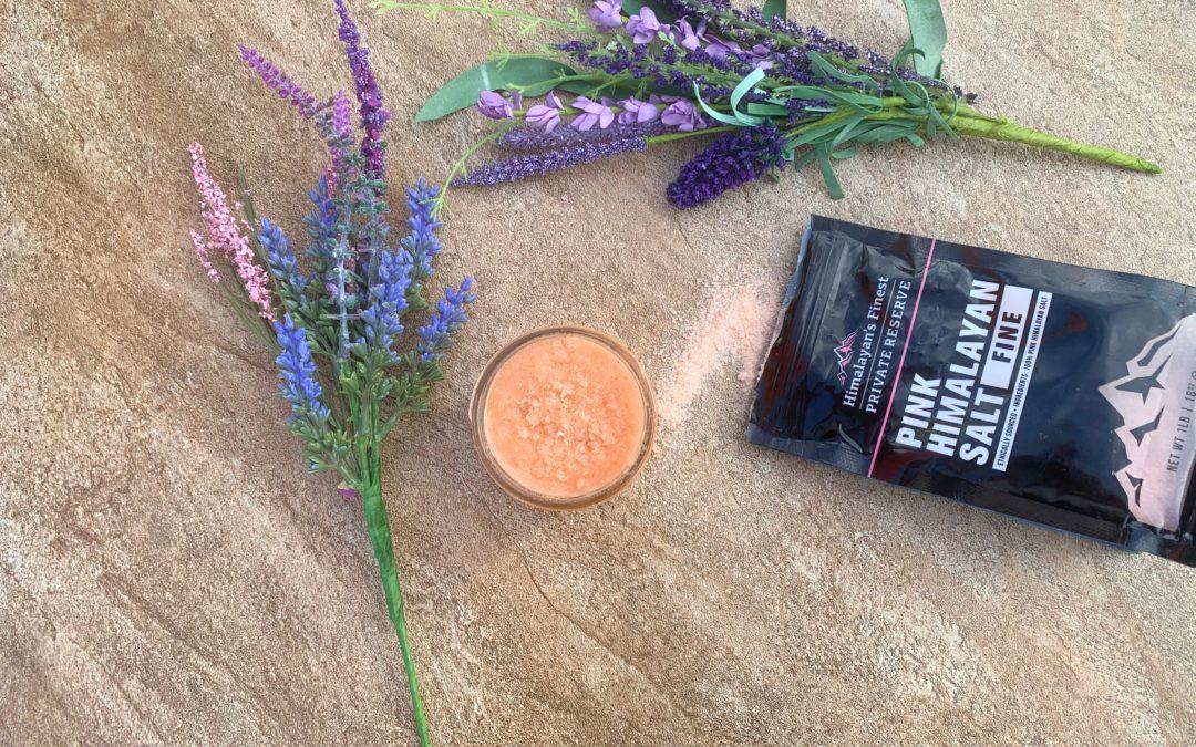 Himalayan Pink Salt Scrub Recipe